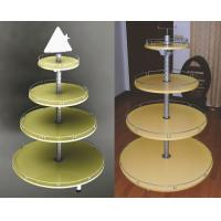 China Particle Board Metal Light Duty Round Shop Display Stands Rack wholesale