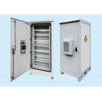 China 2.0mm Galvanized Steel Fiber Optic Outdoor Battery Cabinet For Communication wholesale