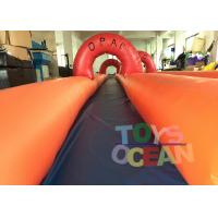 Quality Adults Inflatable City Slide Mini Inflatable Slip And Slide With 2 Lanes for sale