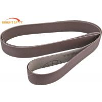 China Wood Stock Custom Sanding Belts 60 Grit , 2 X 72 Ceramic Grinding Belts For Auto Bodywork wholesale