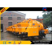 China Mobile Concrete Mixer Pump Trailer 18m³/H Mixing Volume Per Hour wholesale