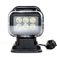 China 7 Inch Marine LED Search Light  60 Watt Waterproof Magnetic Remote Control wholesale