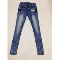 Western Fashion White Loose Fit Tapered Leg Jeans , Low Rise Skinny Jeans For Women