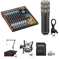 Only WhatsApp Us +13232108826 For Tascam Model 12 2-Person Podcasting Kit with Rode Procaster Microphones