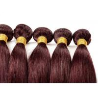 China Red Straight Colored Human Hair Extensions Remy Brazilian Hair Weave wholesale