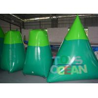 Quality Blue / Green Inflatable Paintball Obstacle Paintball Air Bunkers For Shooting for sale