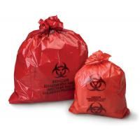 Quality 50microns thickness HDPE LDPE red  yellow plastic biohazard medical waste bags for hospital for sale