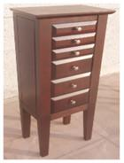 China Brown Color Wooden Jewelry Box Moisture Proof With Sturdy / Durable Frame wholesale