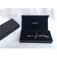 China Solid Wood Packaging Pen Gift Boxes Promotional With Black Color , SGS Listed wholesale
