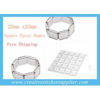 China 20mm Rectangle Clear Epoxy Stickers wholesale