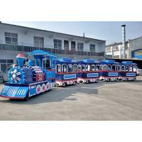 China Thomas Outdoor Electric Trackless Train Tour Carousel Machine In Blue Color wholesale
