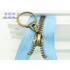 Buy cheap Black Tape Jackets YKk Teeth Silver Metal Zipper , 30 Inch  Heavy Duty Open Ended Zips from wholesalers