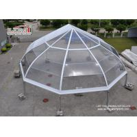 China Transparent Curved TFS Tents with Metal Frame and Waterproof Clear Roof wholesale