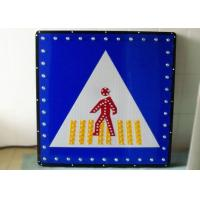 China IP65 Solar Traffic Signs , LED Pedestrian Warning Signs Solar Powered Signage wholesale