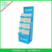 China Four Tiers Custom Supermarket equipment POS Paper Material floor display stand printed cardboard tray wholesale