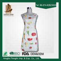 Wholesale Womens / Mens Home Cooking Cotton Bib Aprons Vegetable Printed 70x80cm from china suppliers