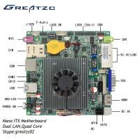 China Dual LAN Nano ITX Motherboard Quad Core Celeron J1900 Processor With LVDS wholesale