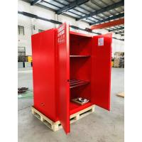 China Red Flammable Combustible Storage Cabinets Two Vents Single Door 45 gallon wholesale