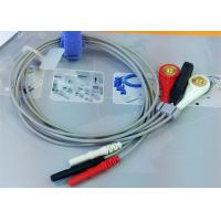 China Din 3 leads ECG Leadwires medical equipment Accessories , Holter ECG Cable wholesale