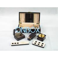 China Painted Wooden Boxes Packaging For Aromer Burner Set , Women Perfume Gift Sets wholesale