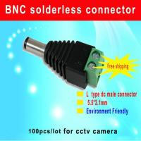 China Green DC male connector 5.5/2.1mm DC Power Jack Adapter Plug Cable Connector cctv camera accessory wholesale