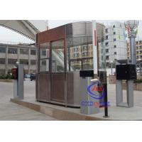 China Waterproof Outdoor Indoor Stainless Steel Prefab Guard House , Noise Protection Park Toll wholesale