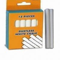 China Dustless White Chalk, Suitable for Teaching and Marking, Conformed to ASTM/F963/EN71-3 Standards wholesale