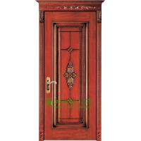 China 40mm Solid Timber Entry Door For Apartment, Lacquer Finish Timber Door For Sale In China on sale