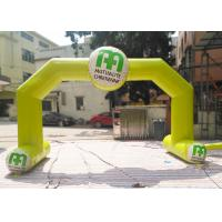 China Yellow Color Custom Inflatable Arch Rental Flame Retardant For Sport wholesale