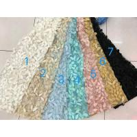 China 3D Flower Multi Colored Lace Fabric Embroidered Sequin Lace Mesh Fabric For Show wholesale