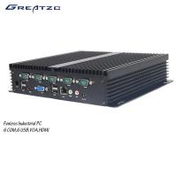 China 6 COM Fanless Industrial Computer With 6 USB 2.0 6 / Fanless Embedded PC wholesale