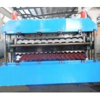 China 18 Forming Stations Double Layer Roll Forming Machine PLC For IBR / Corrugated Sheets wholesale