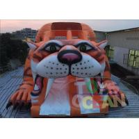 China Kids PVC Giant Tiger Inflatable Slides , Inflatable Party Playground For Rental wholesale