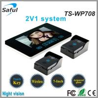 China 7 inch monitor the night vision door bells ring video intercom wireless on sale