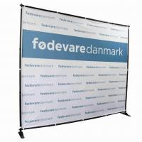 Quality 10' W X 8' H Step Repeat Adjustable Banner Stands Telescopic Backdrop for sale