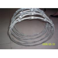 China Stainless Steel Razor Barbed Wire Outside Diameter 450 - 960 Mm Excellent Protection wholesale