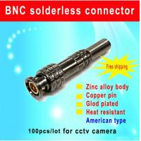 China BNC solderless connector American type BNC Connector for cctv camera heat resisitance bnc with screw cctv accessory wholesale