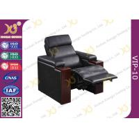 China Shop Black Leather VIP Cinema Seats With Power Recline Optional Home Theater Sofa wholesale