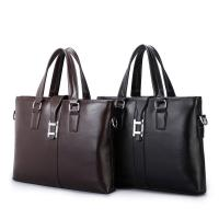 China PU Casual Business Brown Leather Laptop Bag , Travel Messenger Women'S Work Bags Briefcases wholesale