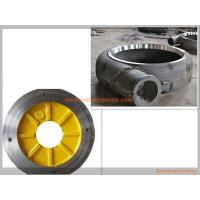 China Anti Abrasion Electric Slurry Pump Spare Parts High Chrome Alloy / Rubber Material wholesale
