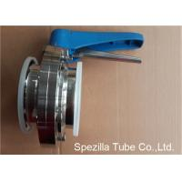 China A270 Sanitary Valves And Fittings Stainless Steel Plastic Handle Tri Clamp Butterfly Valve wholesale
