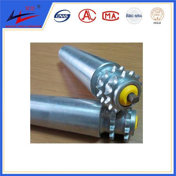 double sprocket conveyor roller