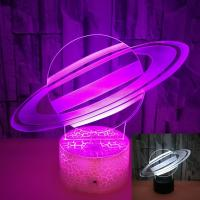 China Creative Gift Moon LED Table Lamp 3D Night Light Acrylic Colorful Touch Remote Control Planet 3D Light wholesale