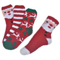 China Polyester plush therapy foot spa socks Christmas theme Winter on sale