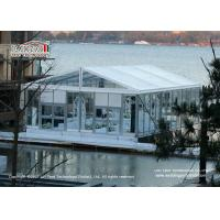 China 10x15m Luxury Wedding Tents With Transparent Roof Cover And Glass Wall For 100 People Capacity Wedding Party wholesale
