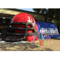 China Outdoor Advertising Blue N Red Inflatable Football Helmet Tunnel For Sport Event wholesale