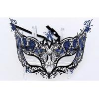 """China Venice Mask Metal Mask with Swarovski crystals   7.5""""PF068D wholesale"""
