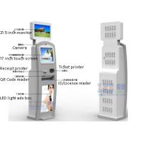 China Cashless Dual Screen Kiosk Tickets Picking Up , No Payment Involvement wholesale