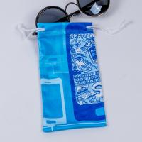 China Small Microfiber Drawstring Eyeglass Pouch , Cloth Sunglasses Pouch Carrying Bags wholesale