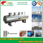 China 1000 Ton gas fire steam boiler mud drum TUV wholesale
